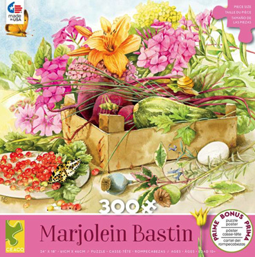 Ceaco 300 Large Piece Jigsaw Puzzle: Marjolein Bastin - SUMMER FLOWERS