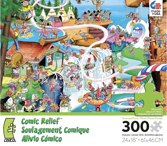 ceaco 300 oversize piece jigsaw puzzle comic relief rocky mountains at puzzlesnz