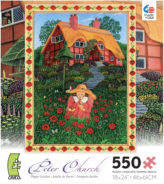 Ceaco 550 piece jigsaw puzzle poppy garden buy online nz at www.puzzlesnz.co.nz