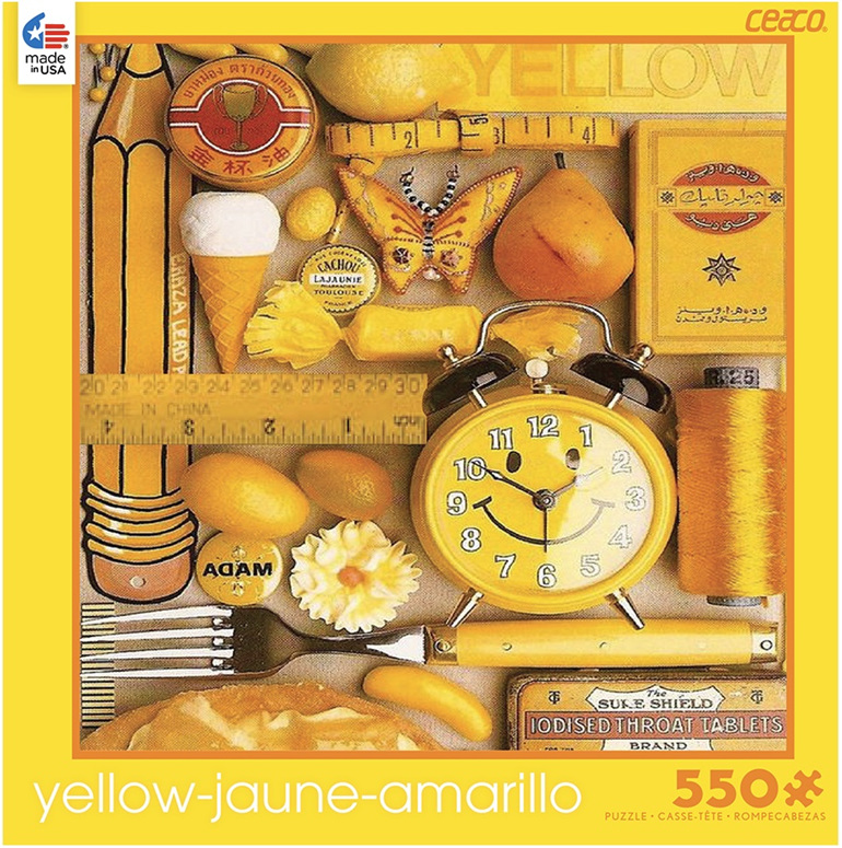 Ceaco 550 piece jigsaw puzzle Yellow buy now at www.puzzlesnz.co.nz