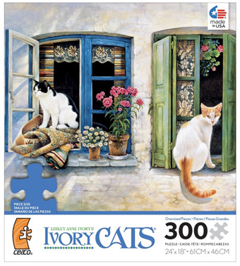 Ivory Cats 300 Oversized Pieces