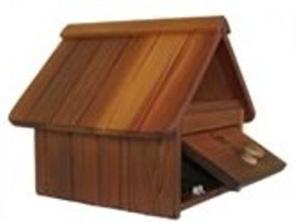 Cedar Wood A4 Letterbox