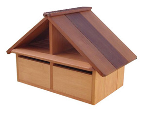 Cedar Wood A4 Twin Unit Letterbox