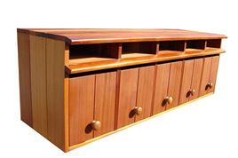 Cedar Wood Multi Unit Letterboxes