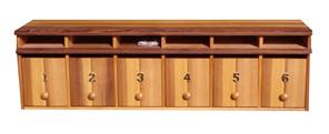 Cedar Wood Multi Unit Letterboxes
