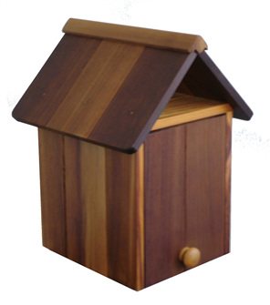 Cedar Wood Pillar Style Letterbox