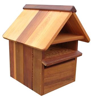Cedar Wood Weekender Letterbox