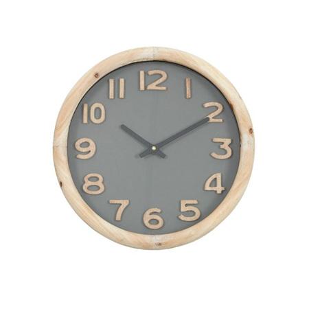 CEDRIC WOOD CLOCK - NATURAL/KHAKI 32.5Cm