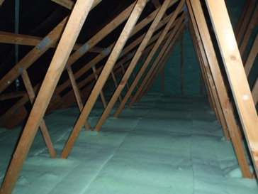 Ceiling Insulation Installed