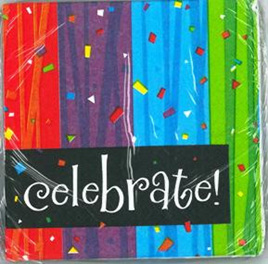 Celebrate Beverage Napkins x 16