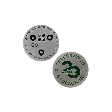 Celebrating 20 Years of Geocaching Micro Geocoin
