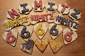 Celebration dog cookies