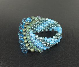 Cellini Spiral - Aqua & Gunmetal