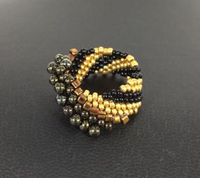 Cellini Spiral - Gold & Black