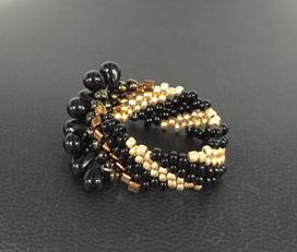 Cellini Spiral - Gold & Black Drops