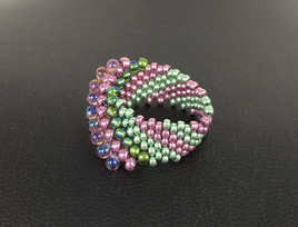 Cellini Spiral - Pink & Green