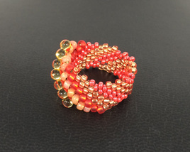 Cellini Spiral - Red & Gold