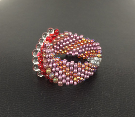 Cellini Spiral - Red & Pink