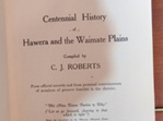 Centennial History of Hawera and the Waimate Plains