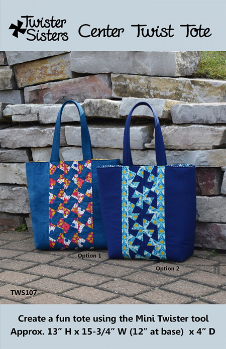 Center Twist Tote Pattern by Twister Sister Designs