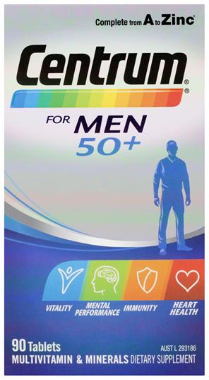 Centrum For Men 50+ 90s