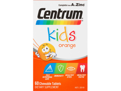 CENTRUM Kid Orange Chew Multi 60tb