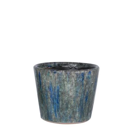 Ceramic container Hunter Blue riverstone 3953