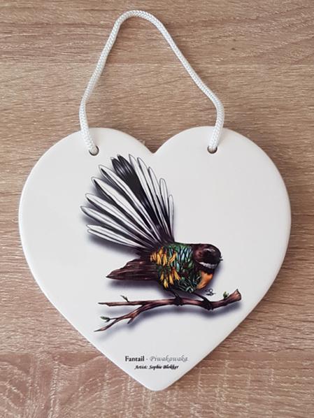 Ceramic Heart - Fantail
