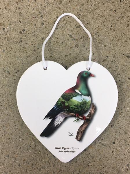 Ceramic Heart - Kererū
