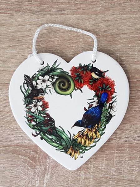 Ceramic Heart - NZ Heart