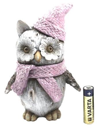 Ceramic  owl with scarf