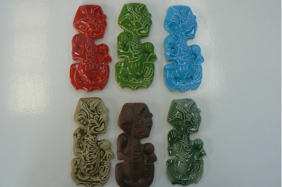 ceramic Tiki, nz art, maori tiki, wall decoration,