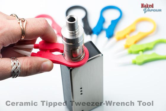 Ceramic Tipped Tweezer-Wrench Tool