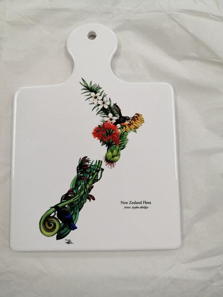 Ceramic Trivet - NZ Flora