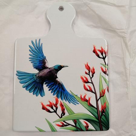 Ceramic Trivet - Tui in Flight