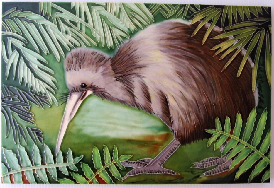 Ceramic Wall Art Bettina's Kiwi CT 96