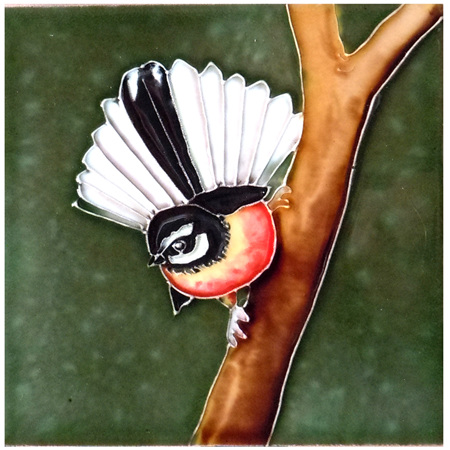 Ceramic Wall Art Fantail CT78