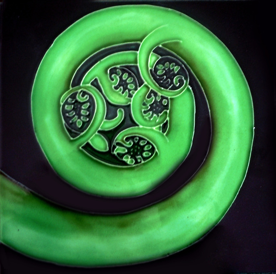 Ceramic Wall Art Koru CT56