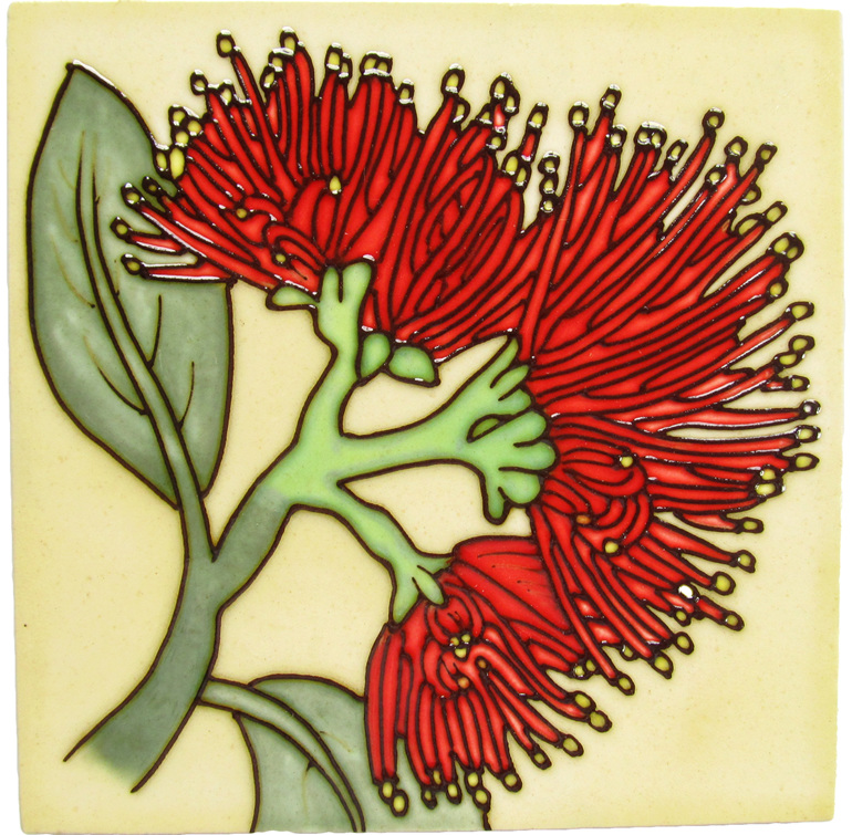 Ceramic Wall Art Pohutukawa CT47