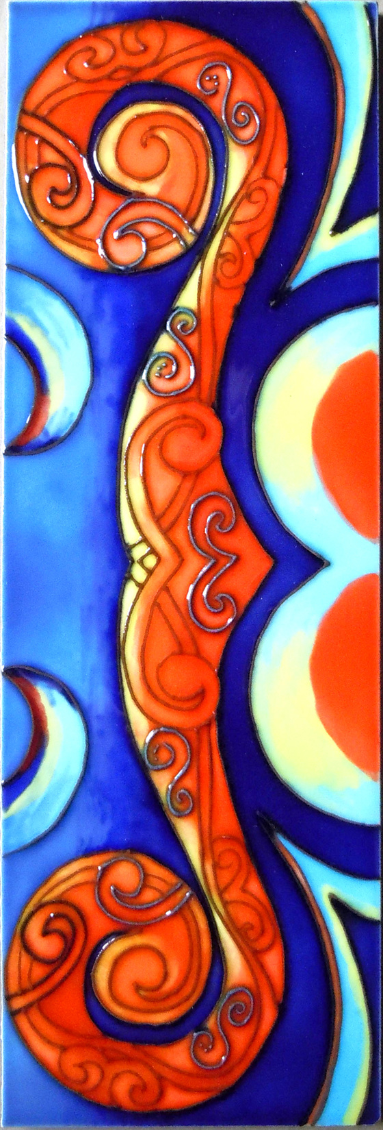 Ceramic Wall Art Reina orange CT86