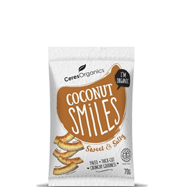 Ceres Organic Coconut Smiles Sweet & Salty 70g