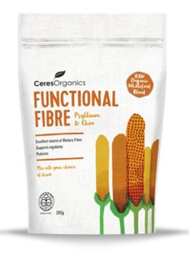 Ceres Organics Functional Fibre Psyllium & Chia 200gm