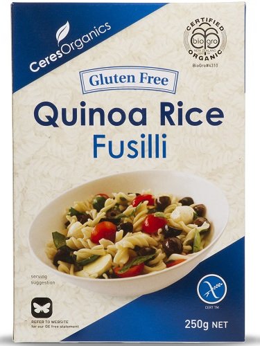 Ceres Organics Fusilli Quinoa Rice 250g
