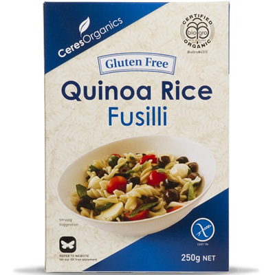 Ceres Organics Fusilli Quinoa Rice - 3 Sizes