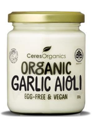 Ceres Organics Organic Aioli Garlic Egg Free Vegan 235g