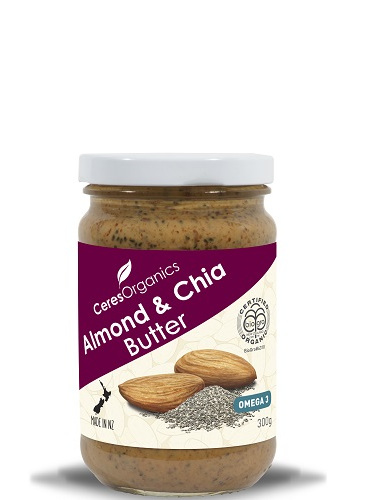 Ceres Organics Organic Almond & Chia Butter 300g