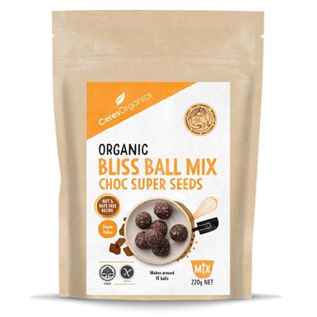 Ceres Organics Organic Bliss Ball Mix Choc Super Seeds 220g