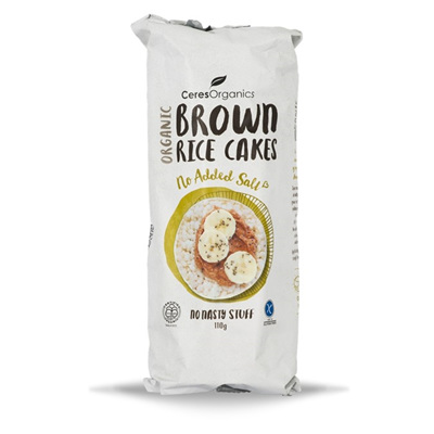 Ceres Organics Organic Brown Rice Cakes No Added Salt 110g