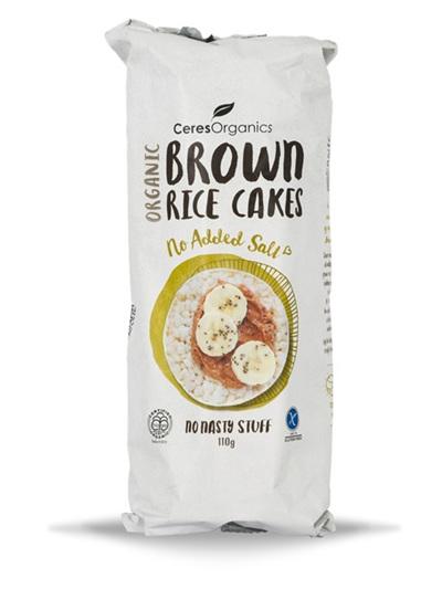 Ceres Organics Organic Brown Rice Cakes No Added Salt 110g