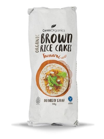 Ceres Organics Organic Brown Rice Cakes Tamari 110g